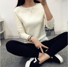 Hot Sale Winter Women Long Sleeve Casual Cashmere Sweaters and Pullovers Female Trendy Solid Pull Femme Warm Knitted Sweater
