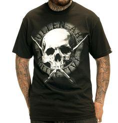 Sullen Skullen Mens Skull Tattoo Design Tshirt - Vulcinity