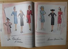 Mid-Summer 1943 McCall Fashion Pattern Book (60 pgs) Magazine 1940s | eBay