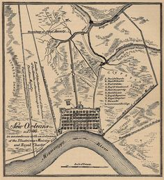 1798 map of New Orleans