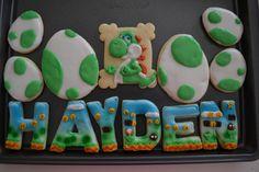 Yoshi/Mario Birthday Cookies | Cookie Connection