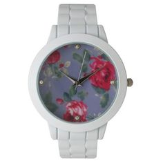 Olivia Pratt Ceramic Floral Cuff Bracelet Watch ($30) ❤ liked on Polyvore featuring jewelry, watches, white purple, bangle bracelet, floral watches, cuff bracelet watch, white bracelet watch and bangle watches
