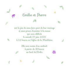 Bouquet printanier - Wedding announcement invitation designed by L'Atelier du Motif for Popcarte - Faire-part, Illustration, Handmade