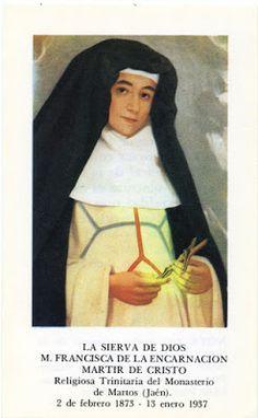 Santos, Beatos, Veneráveis e Servos de Deus: Beata Francisca da Encarnação, Virgem e Mártir (Gu...