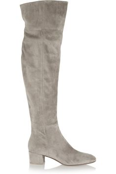 Gianvito Rossi Suede over-the-knee boots #GianvitoRossi Love the boots not the color