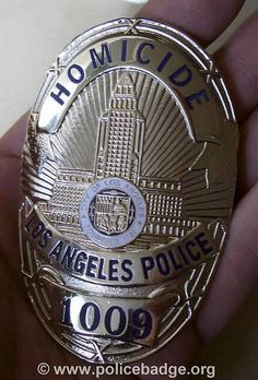 Badge LAPD Homicide by dynamicentry122, via Flickr Police Box, Police Cars, Police Officer, Police Badges, Police Vehicles, Law Enforcement Badges, Federal Law Enforcement, Law Enforcement Officer, Police Tactical Gear