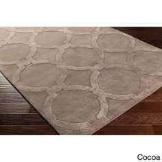 "Surya Hand-Tufted Swindon Wool Rug (7'6 x 9'6) (""Cocoa-(7'6"""" x 9'6"""")""), Brown, Size 7' x 9'"