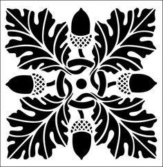 oak leaf tile stencil - Google Search
