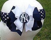 New York Yankees Hair Bow and matching headband