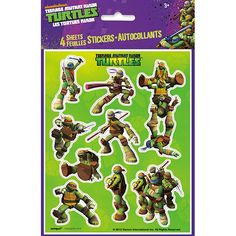 Turtalize you party, your friends, and anything else you can get your hands on! The TMNT Sticker sheets are ready for pizza and fun. Each sheet features 10 stickers each, and are sold with 4 sheets to