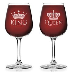 King and Queen Wine Glass for Couples