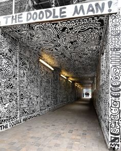 "3,782 Likes, 98 Comments - D7606 (@d7606) on Instagram: ""The full 'tunnel' by @the_doodle_man ● Shoreditch, London ● Support from @globalstreetart . .…"""