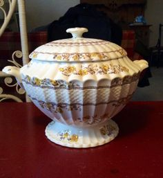 Vintage RARE Spode Soup Tureen ButterCup by ThorntonTreasures, $636.00