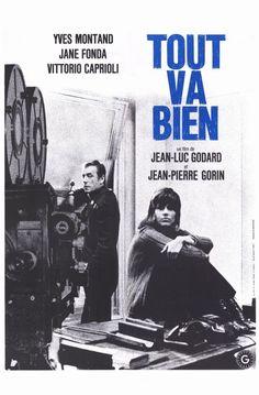 Director: Jean-Luc Godard & Jean-Pierre Gorin Starring: Yves Montand, Jane Fonda and Vittorio Caprioli Original Movie Posters, Movie Poster Art, Poster On, Film Posters, Jane Fonda, Film France, Yves Montand, Candice Bergen, French Movies