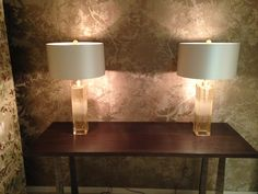 Donghia Glass Lamps