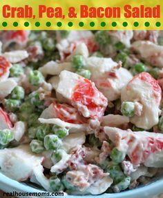 Crab, Pea,  Bacon Salad