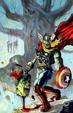 Thor From the Avengers   Zombie Thor by Sam Flegal