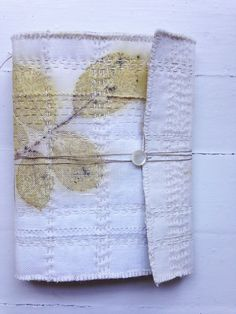 soft rose book, eco printed, hand stitched, by lotta helleberg