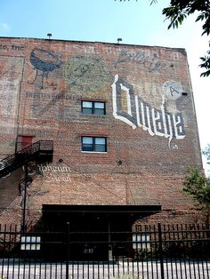 An array of ghost signs in Omaha, NE
