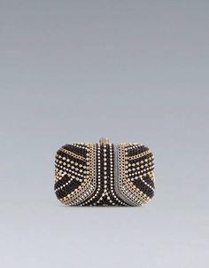 Clutch con cristalli Zara
