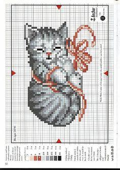 Cat cross stitch                                                                                                                                                     More