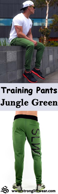 Training Pants - Jungle Green. │gym wear │fitness wear │fitness clothing │fitness │outfits │workout dress │gym outfits │workout outfits │shorts │hoodie #gymwear #fitnesswear #fitnessclothing #fitness #outfits #workoutdress #gymoutfits #workoutoutfits #shorts #hoodie