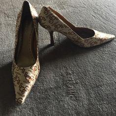 BCBGirls pumps Single sole, pointed toe, BCBGirls pumps, only worn twice, super comfy, in excellent condition!!! BCBGirls Shoes Heels