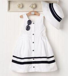 No dejes de ir a la playa sin este modelito marinero. #vestido #marinero #costura