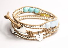 'love the different sizes of bead in this wrap bracelet' by HHartstockDesigns on Etsy