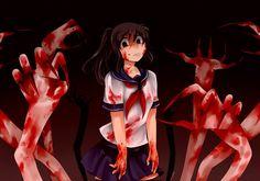 Demon Summoner-Chan by aimturein on DeviantArt Yandere Chan, Male Yandere, Yandere Manga, Yandere Girl, Animes Yandere, Creepypasta, Yendere Simulator, Blood Anime, Chihiro Y Haku