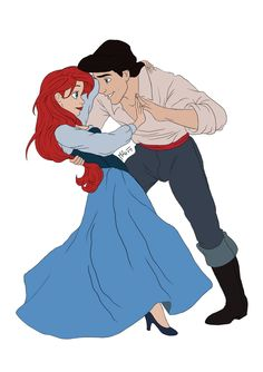 ariel and eric    if i had a boyfriend this would be so cute