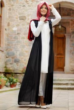 Pınar Şems Siyah Yelek & Tunik Takım