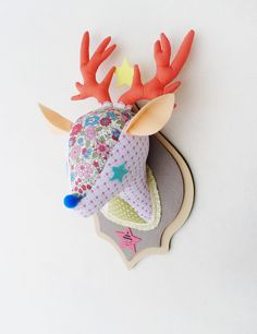 Tada Hunting Trophy _Deer from [www.bangdee.co.kr]  the best decoration item for Kids' room! handmade / fabric / floral / wall decoration