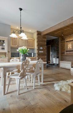 Zakopane, Poland, Apartment Diy Home Interior, Interior Design, Zakopane Poland, Log Homes, Kitchen Design, Sweet Home, Indoor, House Design, Furniture