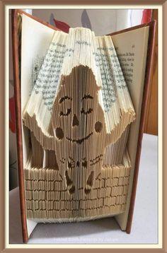 Humpty Dumpty Cut and Fold Book Folding Pattern by JHBookFoldPatterns on Etsy