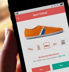 flat + clean eccomerce footwear mobile site...from dribble