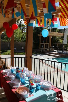 Banner at a Nautical Mickey Mouse Party #nautical #mickeymouse