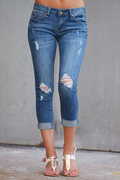 Can't Get Enough Crop Skinny Jeans - Medium Wash from Closet Candy Boutique - #newarrival #shop