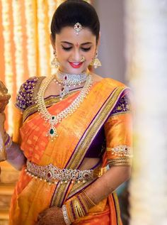 Latest Collection of best Indian Jewellery Designs. India Wedding, Saree Wedding, Wedding Blouses, South Indian Bride, Indian Bridal, Indian Jewellery Design, Jewellery Designs, Indian Beauty Saree, Indian Sarees