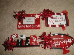 Cheerleading signs & frames | eBay Cheer Camp, Football Cheer, Cheer Coaches, Cheer Dance, Football Sister, Cheerleading Signs, Cheerleading Workouts, Cheer Stunts, Cheer Sister Gifts