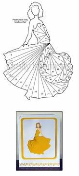 Iris Folding Elegant Lady Pattern on Craftsuprint designed by Sarah Edwards… Patchwork Quilting, Paper Pieced Quilt Patterns, Card Patterns, Iris Folding Templates, Iris Paper Folding, Iris Folding Pattern, Paper Cards, Folded Cards, Diy Paper