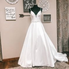 """Atlas Bridal Shop on Instagram: """"Would you wear this With or without the Bridal Belt ? Either way this dress is gorgeous!! A dress like this one allows you to be super…"""" Grow Old With Me, Allure Bridals, Vera Wang, Wedding Ideas, Belt, Bride, Wedding Dresses, How To Wear, Shopping"""