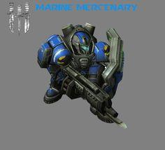 Marine Mercenary (HD) by HammerTheTank on DeviantArt War Pigs, Starcraft 2, Real Time Strategy, Stars Craft, Gears Of War, Science Fiction Art, Bioshock, Space Marine, Mass Effect