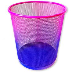 ombre trash can ($5) ❤ liked on Polyvore featuring home, home decor, small item storage, decor and tbd