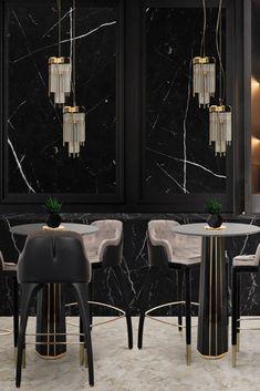Bar interior design can give you the finest lighting inspiration. #modernchandeliersblog #lifestylebyluxxu #luxxumoderndesignliving #luxurydecoration #luxury #bar #designideas #bardesign #lighting #interiordesign Luxury Decor, Luxury Bar, Bar Interior Design, Modern Chandelier, Dining, Lighting, Inspiration, Home, Style