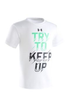 Under Armour White Try To Keep Up Tee Boys 4-7