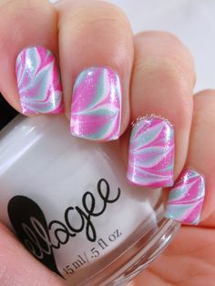 Browse & see more Water marble nail art designs 2016 Nail Art Designs 2016, Pretty Nail Designs, Cute Nails, Pretty Nails, Water Marble Nail Art, Fingernail Designs, Finger Nail Art, Pink Nail Art, Girly Things