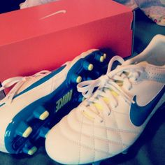 New Cleats. Ready for Spring Soccer Baby ♥ #athlete #soccerbabe #nike #soccer #cleats