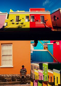 Cape Town colour - beautiful houses in Bo Kaap #CapeTown #travel