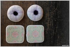 Nubi Pillow in the Color Room Traditional Quilts, Korean Traditional, Korean Crafts, Tea Cozy, Korean Art, Hand Sewing, Needlework, Patches, Arts And Crafts